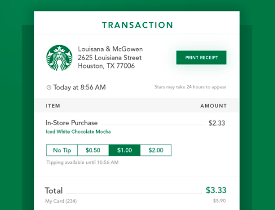 Digital Receipt Display
